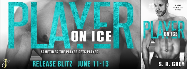 Player on ice banner